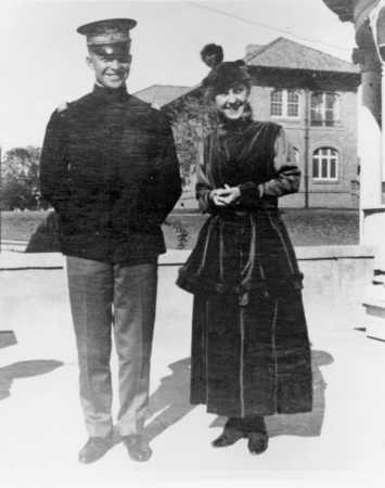 Dwight D. Eisenhower and Mamie Geneva Doud. Nov. 1915, one month after their first meeting. Eisenhower is stationed in Fort Sam Houston, near San Antonio, Texas